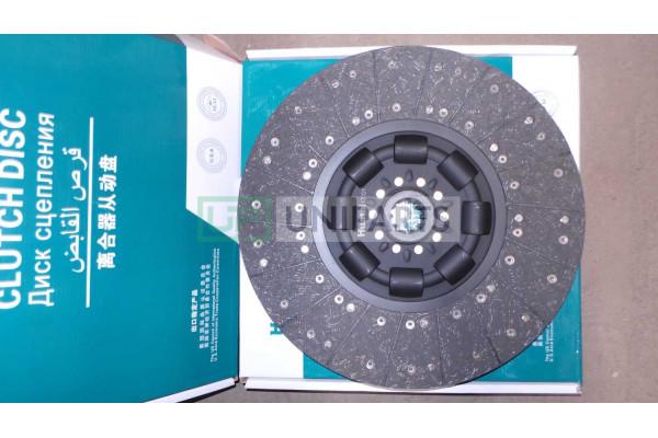 диск сцепления 430 втулка d=45 z=10 качество HOWO AZ9114160020